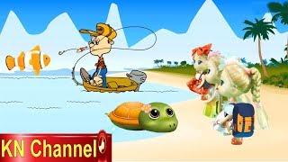 BÚP BÊ KN Channel  GIẢI CỨU RÙA CON TỘI NGHIỆP | CÂU CÁ TRÊN BIỂN Fishing game