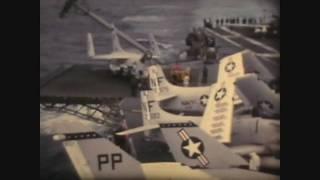 USS Ticonderoga CVA-14 conducting bombing raids over North VietNam