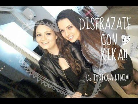 DISFRAZ  DE  TORTUGA  NINJA!! - Kika
