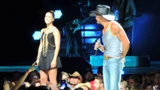Tim McGraw and Cassadee Pope - MidFlorida Credit Union Amphitheatre - Tampa, FL, July 12, 2014