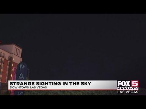 Vreemde waarneming in de lucht van Las Vegas