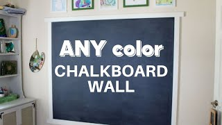 Navy Blue Chalkboard Wall With ANY Color Chalkboard Paint
