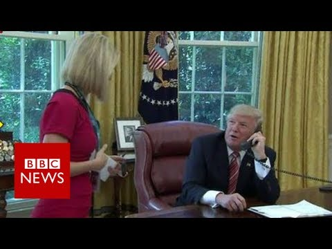 Irish reporter Caitríona Perry's 'bizarre moment' with Trump – BBC News