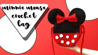 Minnie Mouse Crochet Bag Tutorial //
