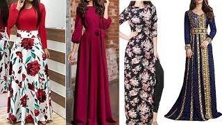 Trendy Full Sleeve Long Maxi Dress|| Maxi Outfit Ideas||Long Maxi Dresses With Long Sleeves