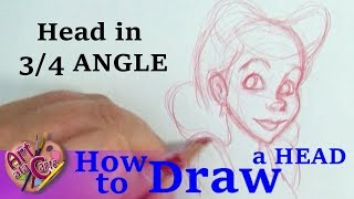 How to draw a FACE at a 3/4 angle