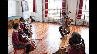 An inspiring video of Junior Academy student Sheku visiting London Music Masters