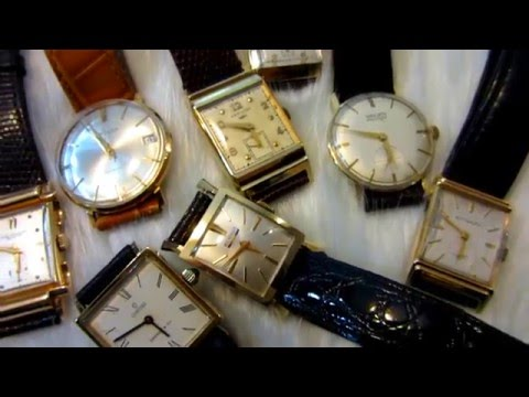 Beautiful collectable 1930s~1960s Solid 18k &14k gold watches