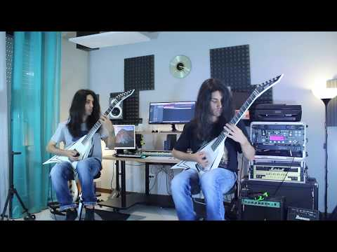Children of Bodom - All Twisted (w/SOLO - ESP Alexi Laiho - Double Guitar Cover)