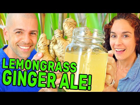 Making Lemongrass GINGER ALE (Homemade soda with GINGER BUG)