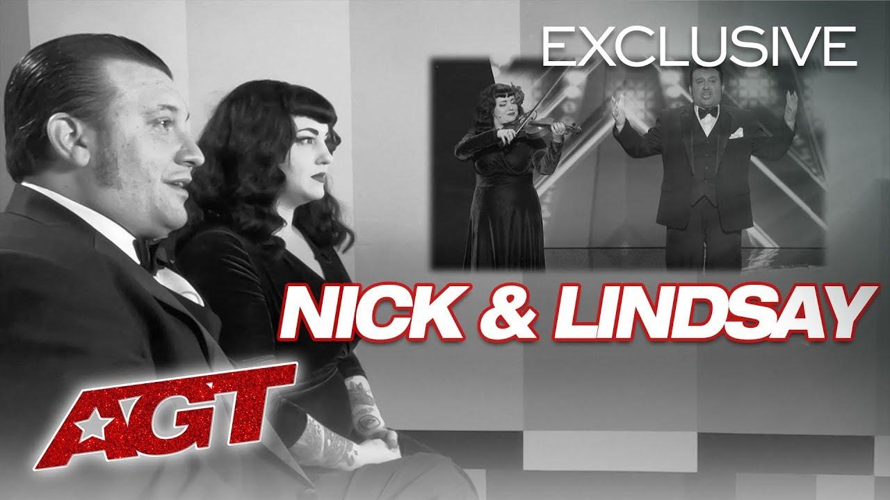 Nick & Lindsay Break Down Knife Throwing...With FEET! - America's Got Talent 2019 thumbnail