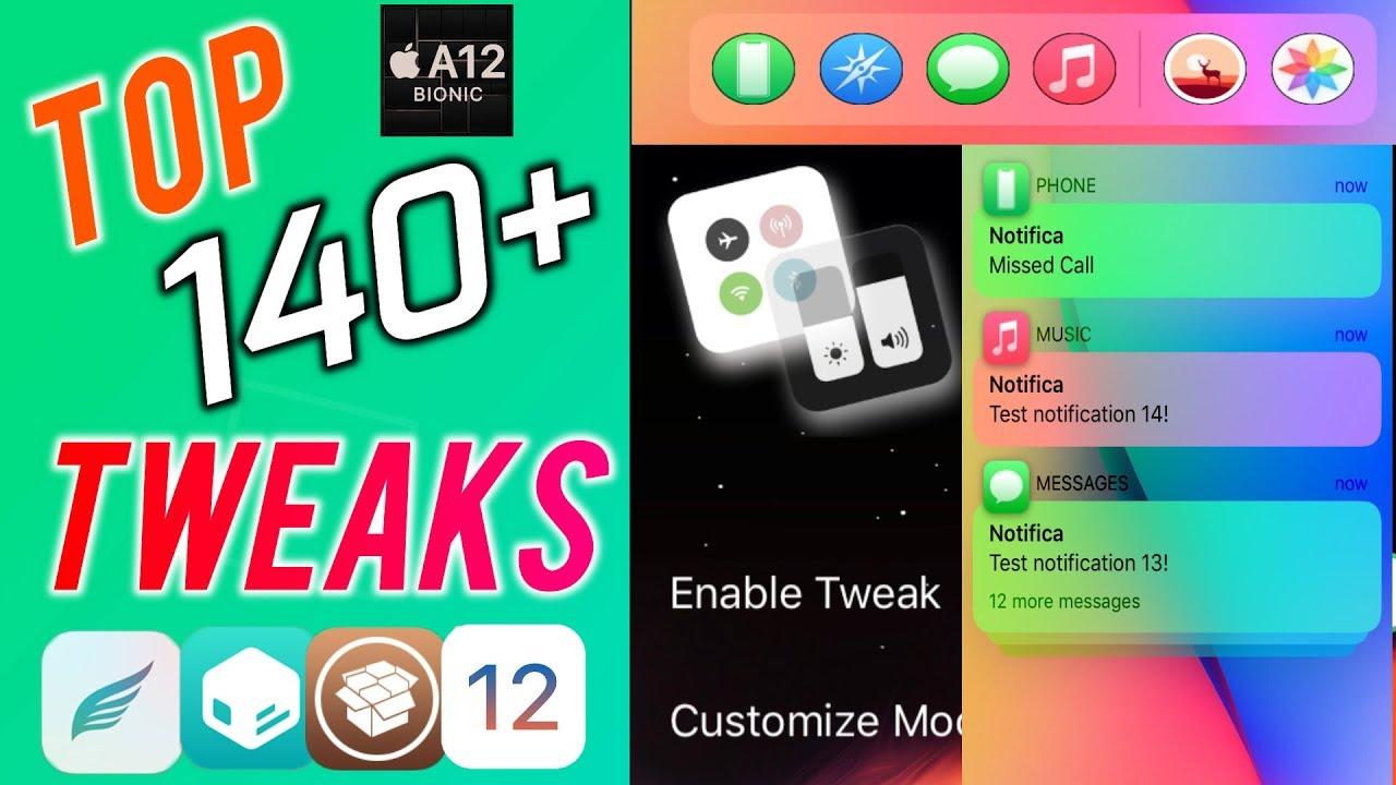 TOP 140+ PLUS - NEW Jailbreak Tweaks for A12 Chimera Jailbreak iOS