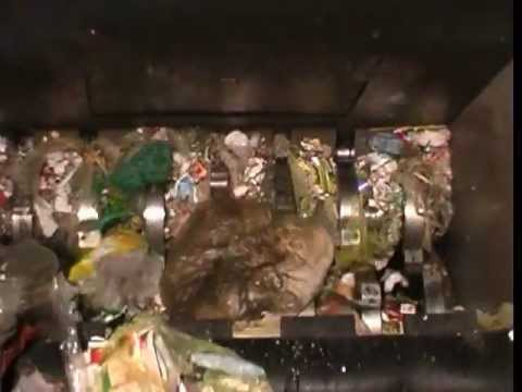 Video of the JBF 150-90 44kW Refuse Bag Shredder Shredder