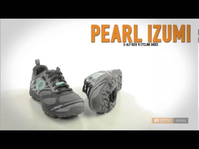Видео Велотуфли женские Pearl iZUMi X-Alp Seek VII голубо-белые