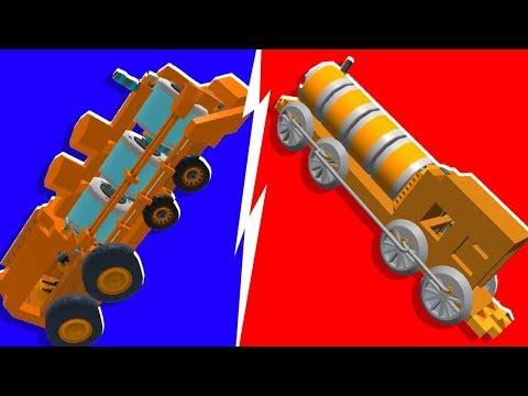 Noob VS. Pro Train Building Challenge - Scrap Mechanic   JeromeACE