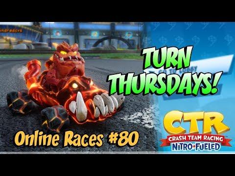 TURN THURSDAYS! CTRNF LIVE STREAM Online Races #80 NEON CIRCUS GRAND PRIX