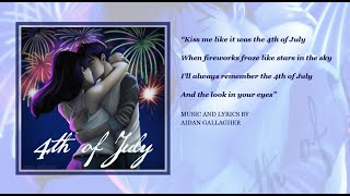 4th Of July  - Music Only Video - Aidan Gallagher