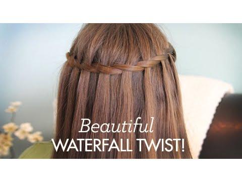 Ιδιαίτερο στριφτό χτένισμα μαλλιών σε σχήμα καταρράκτη