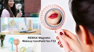 Remax Magnetic Makeup handheld Fan F22 By SROLANH Smart Store