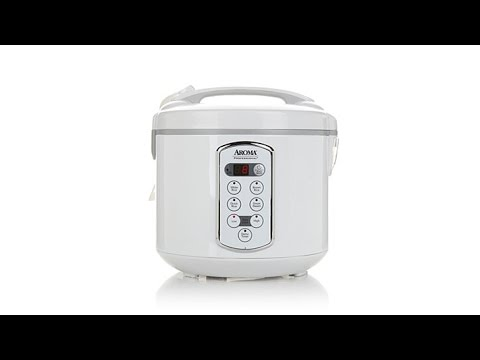 , Aroma Housewares NutriWare 14-Cup (Cooked) Digital Rice Cooker and Food Steamer, White