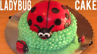 Ladybug Cake - How To Decorate A Cake - Step By Step - Birthday Cake
