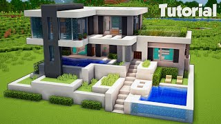Minecraft How To Build A Large Survival House Easy Tutorial 2017 Minecraftvideos Tv