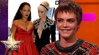 Cara Delevingne Couldn't Stop Staring At Rihanna   The Graham Norton Show