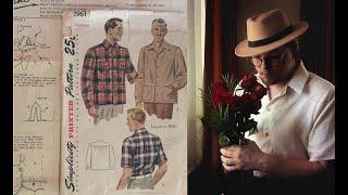 Making A Vintage 1940s Mens Shirt