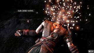 Mortal Kombat X Brain Freeze Faction Kill on All Characters Lin Kuei