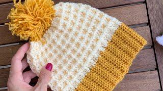 Gofret/Waffle Bere / Crochet Waffle Hat
