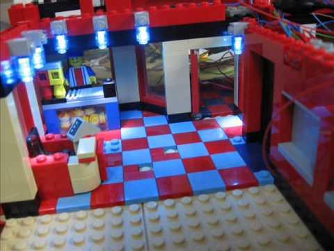 Lego City Kino Cinema mit LED Beleuchtung