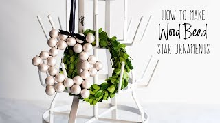 DIY Wood Bead Star Ornaments