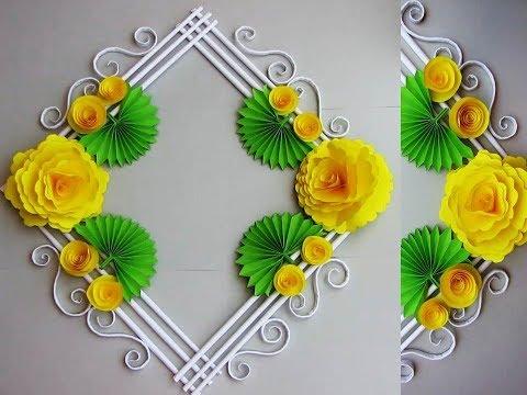 DIY. Simple Home Decor. Wall, Door Decoration. Hanging Flower. цветы из