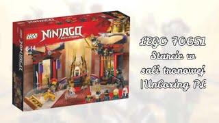 LEGO Ninjago 70651 Sala Tronowa [NOWOŚĆ Czerwiec 2018) |Unboxing PL