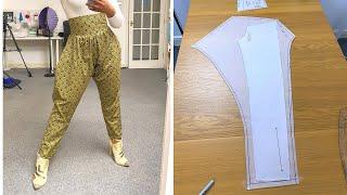 HOW TO MAKE HAREM PANTS FOR WOMEN | KIM DAVE