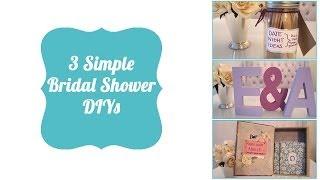 3 Simple Bridal Shower DIYs