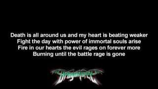 DragonForce - Storming The Burning Fields | Lyrics on screen | HD