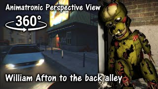 360°| FNAF6 William Afton to the Back Alley - Animatronic Prospect [SFM] (VR Compatible)