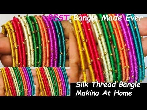 how to do silk thread bangles,bangles,silk bangles,new silk thread bangles, multicolour silk bangles
