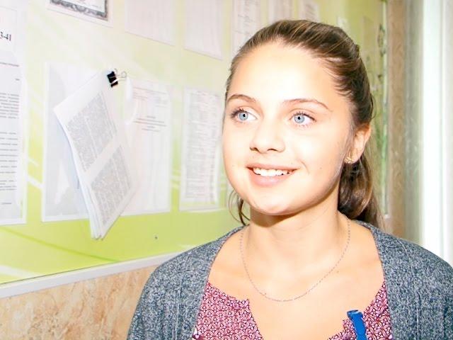 Немецкая девочка учит русский в Ангарске