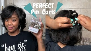 How To: Perfect Pin Curls | Maintain Straightened Natural Hair | Type 4 Silk Press