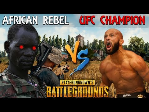 African Rebel SCARES the UFC World Champ on PUBG – Demetrious Johnson