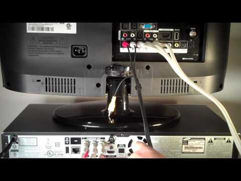 How to Connect Blu Ray to TV using Component Video