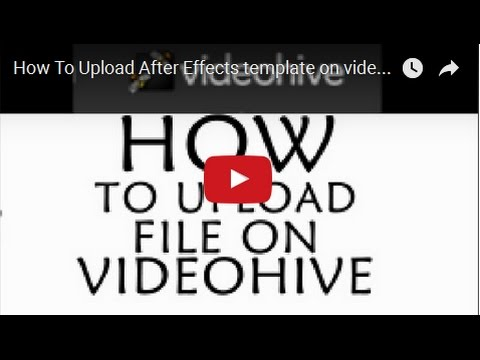 Download How To Upload After Effects Template On Videohive