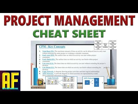 Project Management Cheat Sheet Tutorial - YouTube