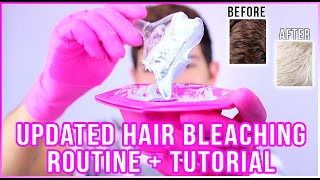 HOW TO: BLEACH YOUR HAIR AT HOME | DARK BROWN TO BLONDE TUTORIAL