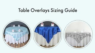 Table Overlays Sizing Guide | BalsaCircle.com