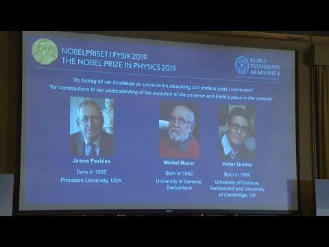 Nobel de Fisica para trio de cosmologos | AFP