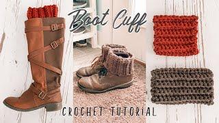 Crochet Boot Cuff Tutorial For Beginners