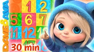 🚂 ABC's, Numbers and Counting | Baby Songs by Dave and Ava 🚂